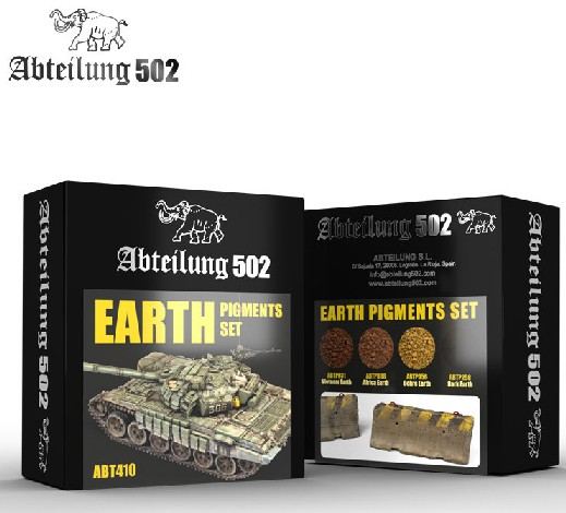 502 Abteilung Weathering Pigment Set- Earth Weathering