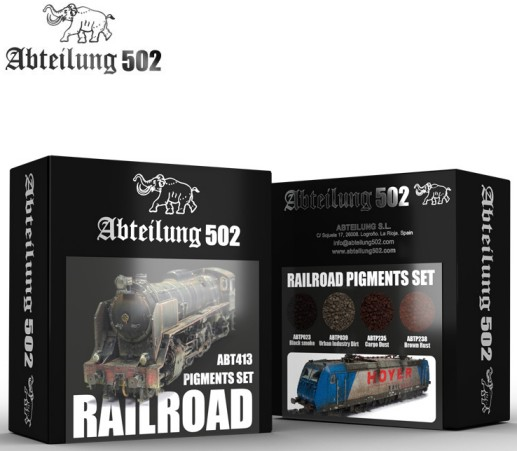 502 Abteilung Weathering Pigment Set- Railroad Weathering