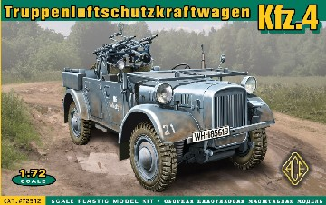 WWII Truppen-Luftschutz-Kraftwagen Kfz4 German Anti-Aircraft Vehicle