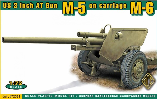 US M5 3-inch Anti-Tank Gun w/M6 Carriage