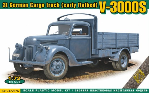 V3000S 3-Ton German Cargo Truck (Early Flatbed)