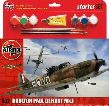 Boulton Paul Defiant Mk I Aircraft Starter Set w/paint & glue