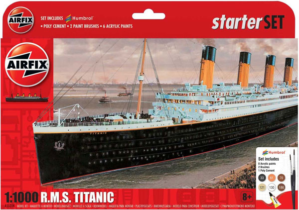 RMS Titanic Large Starter Set w/paint & glue