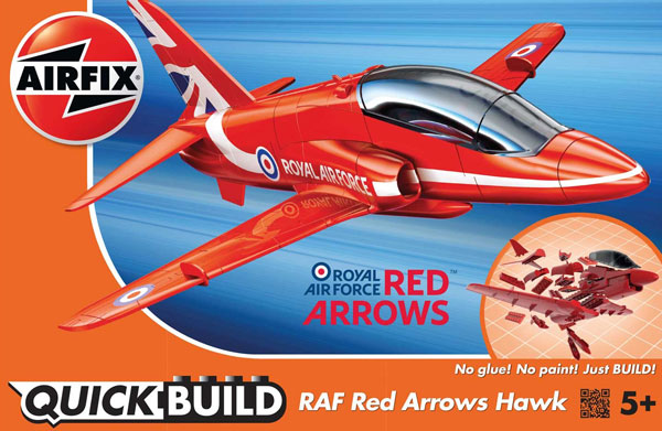 Quick Build Red Arrows Hawk RAF Aircraft (Snap)