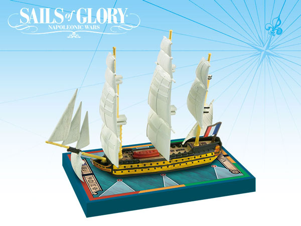 Sails of Glory - French: 80-guns Bucentaure / Tonnant Class Ships-of-the-Line - Neptune 1803/ Ville de Varsovie 1808