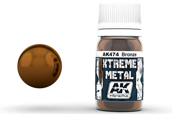 Xtreme Metal Bronze Metallic Paint 30ml Bottle