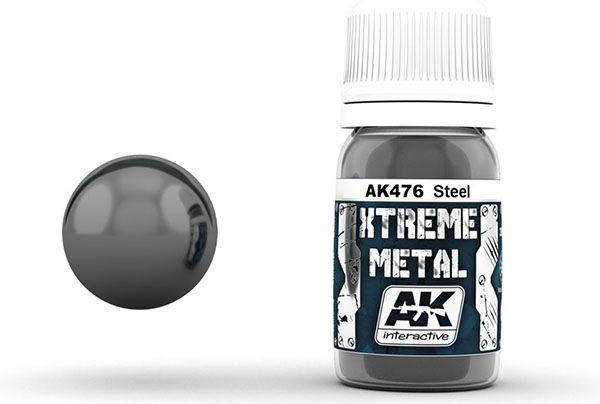 Xtreme Metal Steel Metallic Paint 30ml Bottle