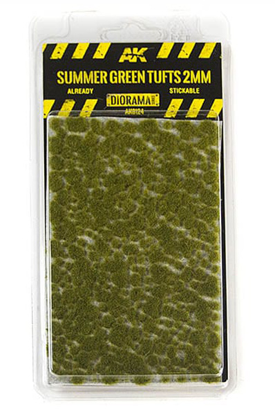Diorama Series: Summer Green Tufts 2mm (Self Adhesive)