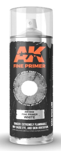 Fine White Lacquer Primer 200ml Spray