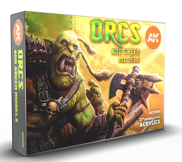 Orcs and Green Creatures 3rd Generation Acrylic Paint Set