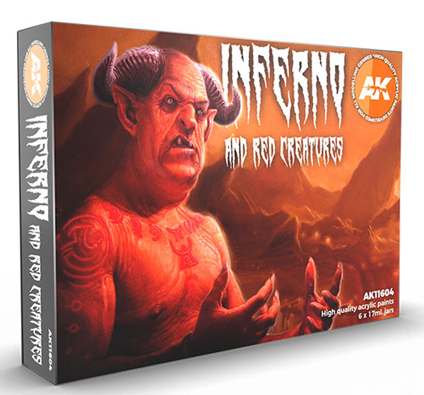 Inferno and Red Creatures 3rd Generation Acrylic Paint Set