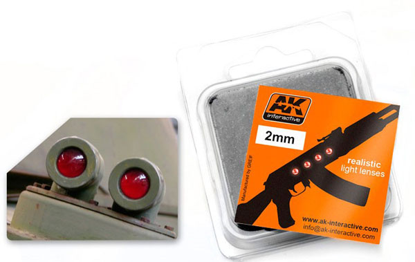 2mm Red Light Lenses