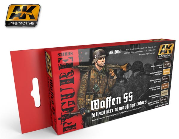 Figure Series: Waffen SS Fall/Winter Camouflage Colors Acrylic Paint Set