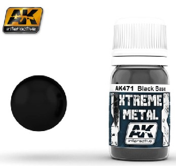 Xtreme Metal Satin Black Base 30ml Bottle