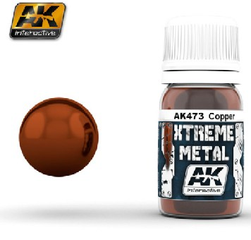 Xtreme Metal Copper Metallic Paint 30ml Bottle