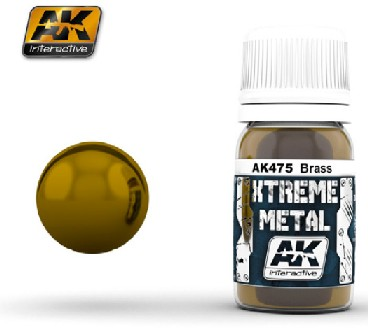 Xtreme Metal Brass Metallic Paint 30ml Bottle