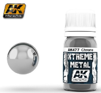 Xtreme Metal Chrome Metallic Paint 30ml Bottle