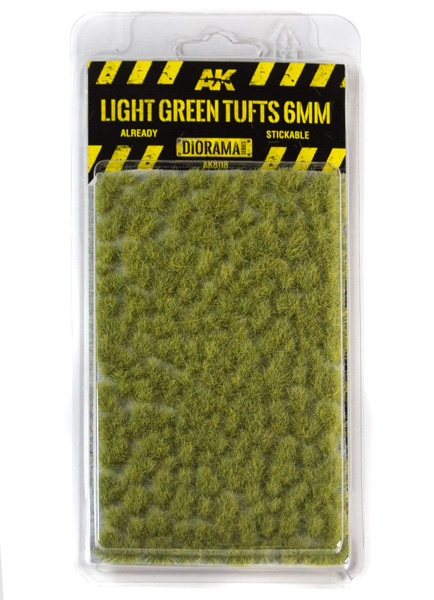 Diorama Series: Light Green Tufts 6mm (Self Adhesive)