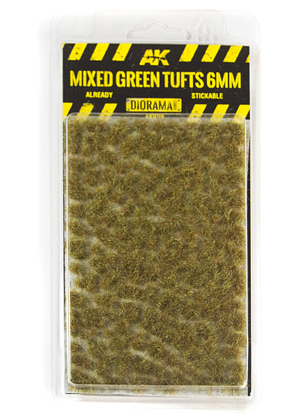Diorama Series: Mixed Green Tufts 6mm (Self Adhesive)