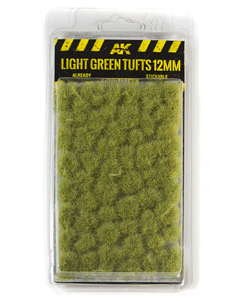 Diirama Series: Light Green Tufts 12mm (Self Adhesive)