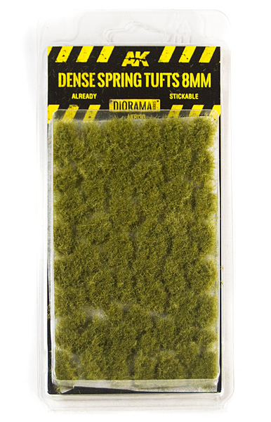 Diorama Series: Dense Spring Tufts 8mm (Self Adhesive)