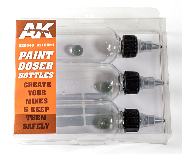 Paint Doser 100ml Bottles w/Stainless Steel Shaker Ball