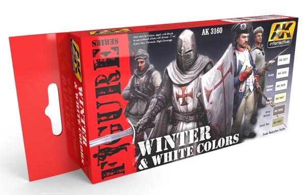 Figure Series: White and Winter Colorss Acrylic Paint Set