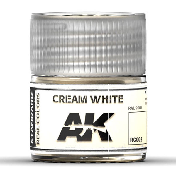 Real Colors: Cream White RAL 9001 Acrylic Lacquer Paint
