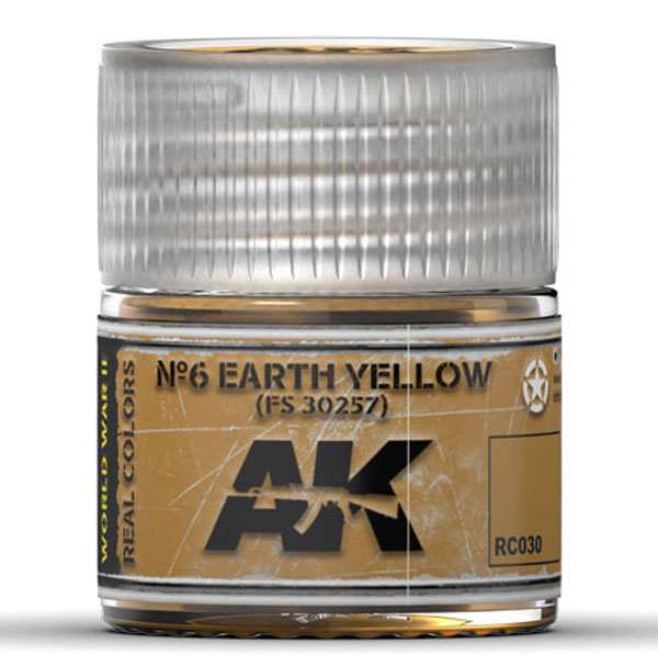 Real Colors: No.6 Earth Yellow FS30257 Acrylic Lacquer Paint
