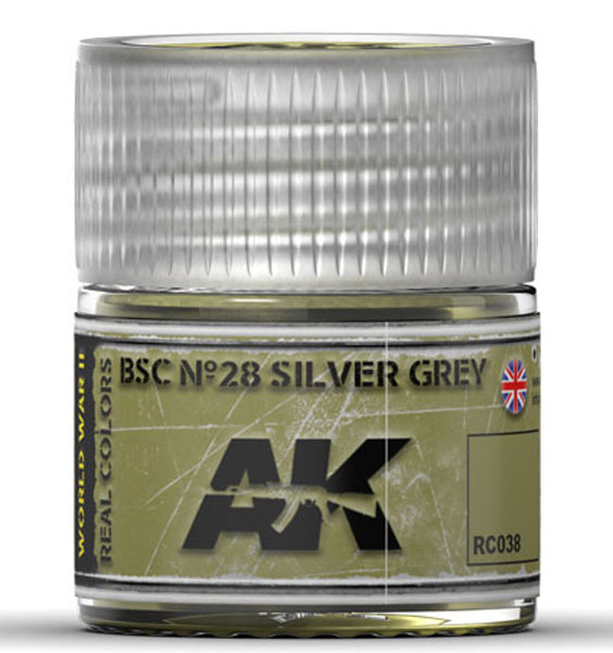 Real Colors: BSC No.28 Silver Grey Acrylic Lacquer Paint