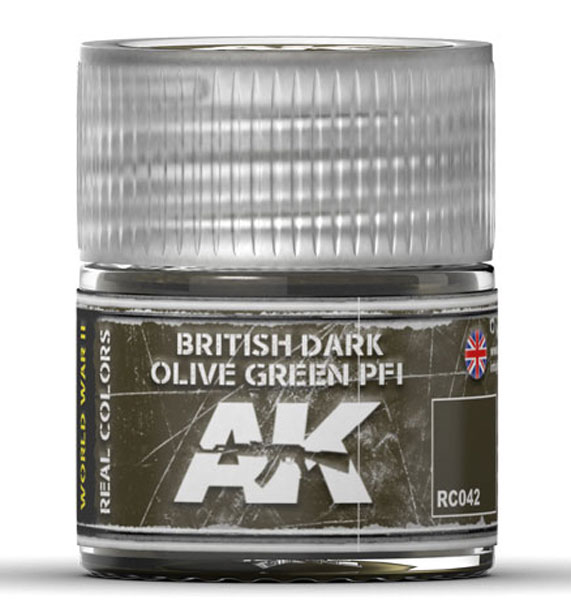 Real Colors: British Dark Olive Green PF1 Acrylic Lacquer Paint