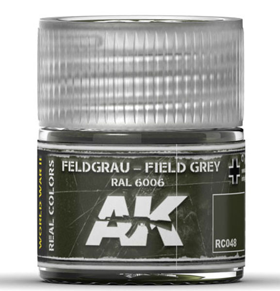 Real Colors: Field Grey RAL6006 Acrylic Lacquer Paint