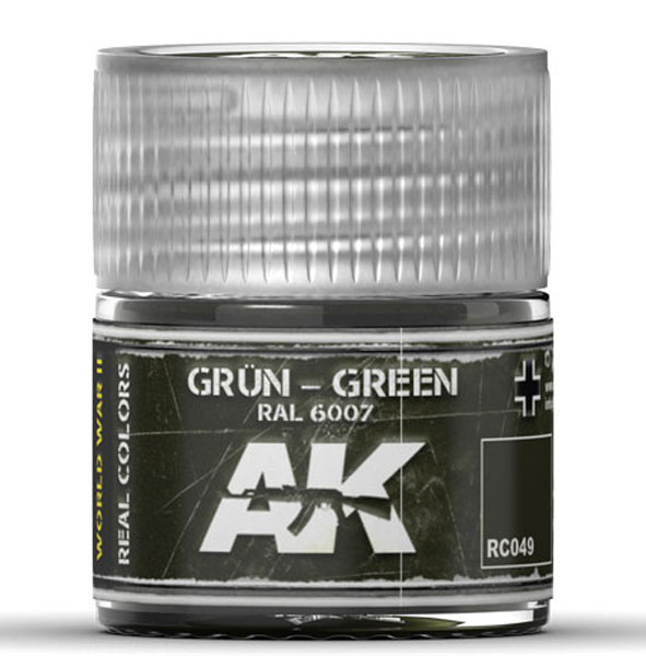 Real Colors: Green RAL6007 Acrylic Lacquer Paint