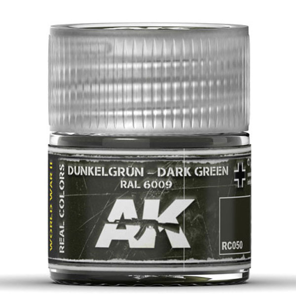 Real Colors: Dark Green RAL6009 Acrylic Lacquer Paint