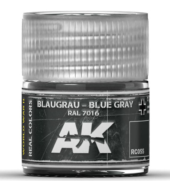 Real Colors: Blue Grey RAL7016 Acrylic Lacquer Paint