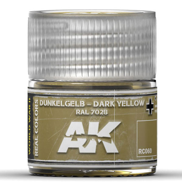 Real Colors: Dark Yellow RAL7028 Acrylic Lacquer Paint