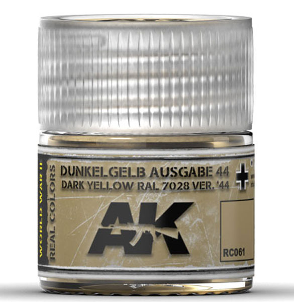 Real Colors: 44 Dark Yellow RAL7028 Acrylic Lacquer Paint