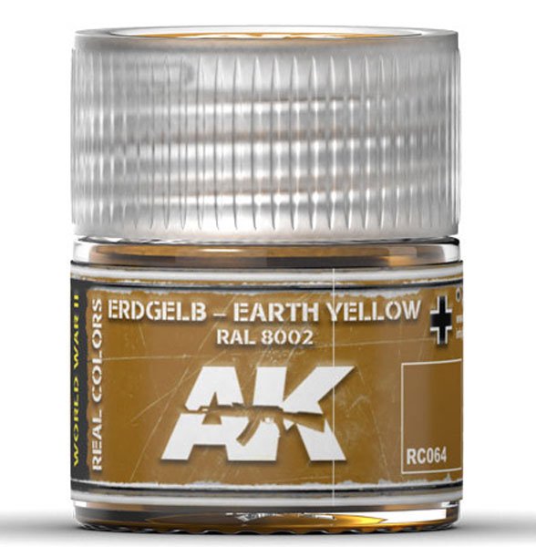 Real Colors: Earth Yellow RAL8002 Acrylic Lacquer Paint