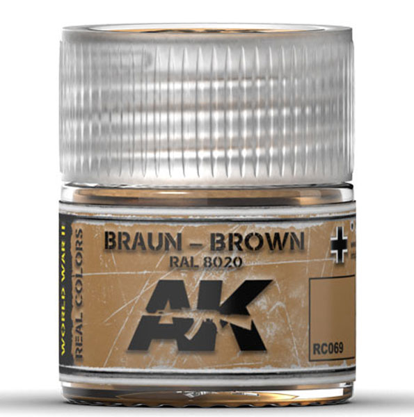 Real Colors: Brown RAL8020 Acrylic Lacquer Paint