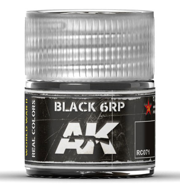Real Colors: Black 6RP Acrylic Lacquer Paint