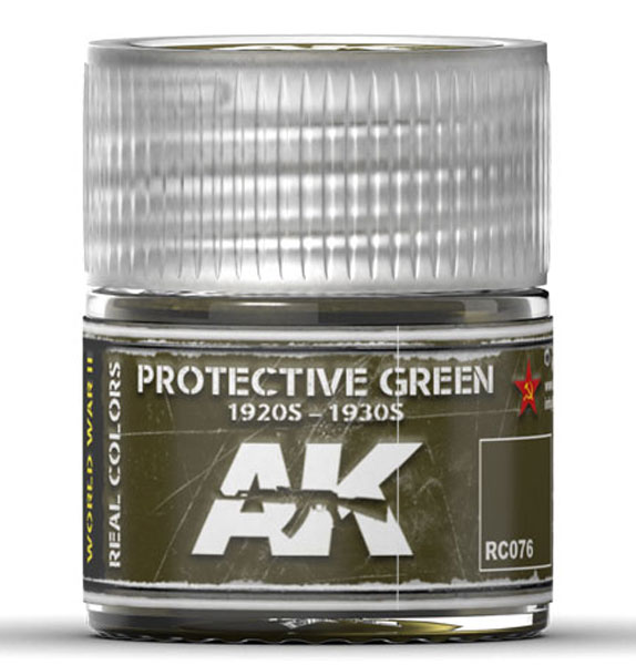 Real Colors: Protective Green 1920s-1930s Acrylic Lacquer Paint