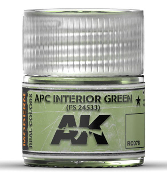 Real Colors: APC Interior Green FS24533 Acrylic Lacquer Paint