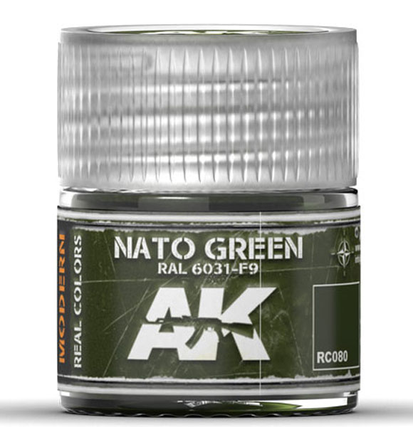 Real Colors: NATO Green RAL6031 F9 Acrylic Lacquer Paint
