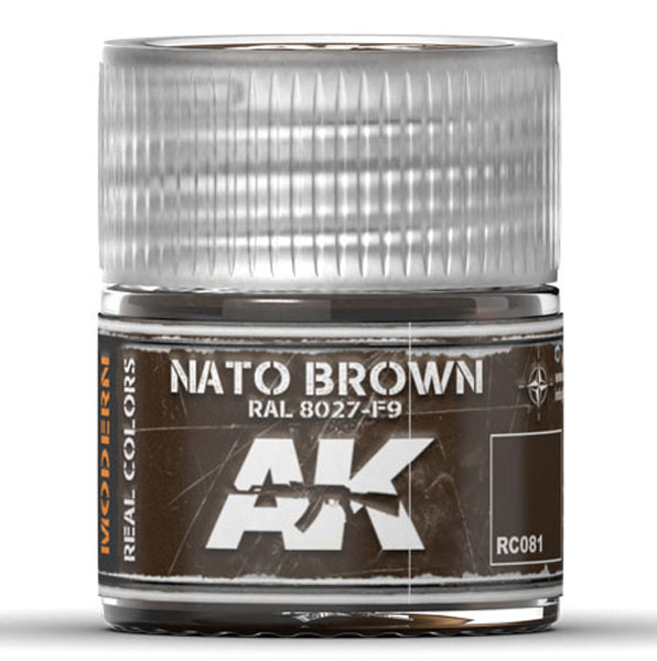 Real Colors: NATO Brown RAL8027 F9 Acrylic Lacquer Paint