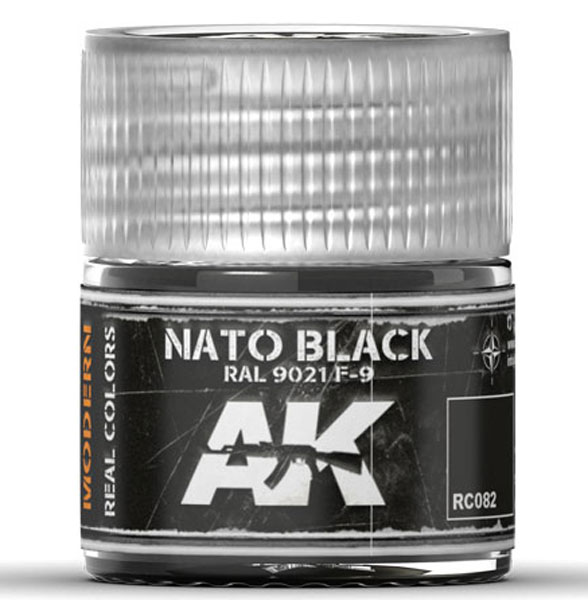 Real Colors: NATO Black RAL9021 F9 Acrylic Lacquer Paint