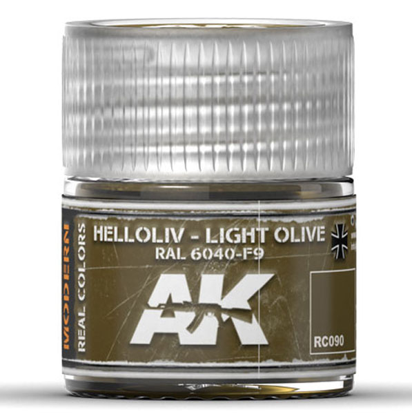 Real Colors: Light Olive RAL6040 F9 Acrylic Lacquer Paint