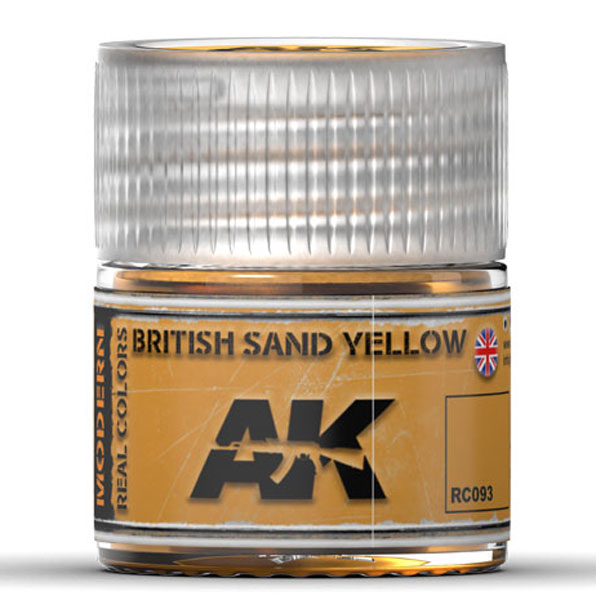 Real Colors: British Sand Yellow Acrylic Lacquer Paint