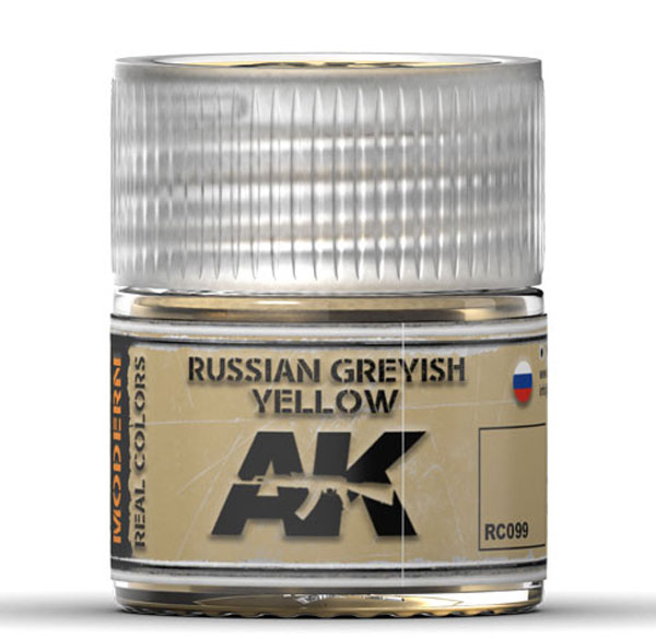 Real Colors: Russian Greyish Yellow Acrylic Lacquer Paint