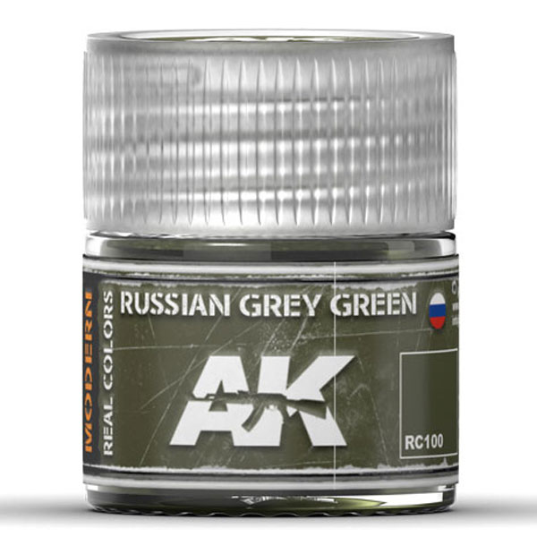 Real Colors: Russian Grey Green Acrylic Lacquer Paint