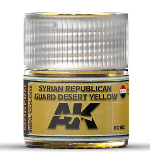 Real Colors: Syrian Republican Guard Desert Yellow Acrylic Lacquer Paint